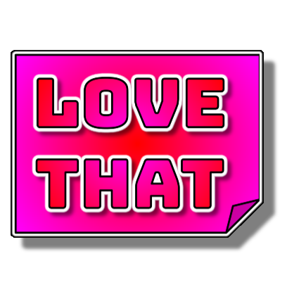 Chopped Neon Sticker – Love That