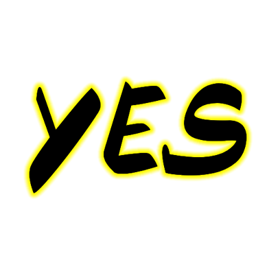 Chopped Neon Sticker – Yes